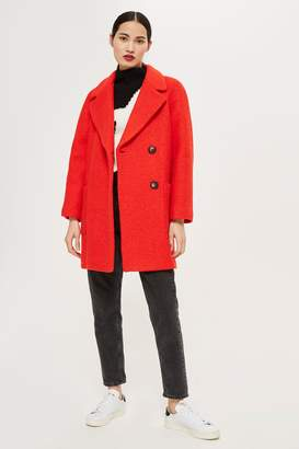 Topshop Seamed Boucle Coat
