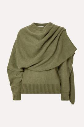 REJINA PYO Colette Draped Mohair-blend Sweater - Green