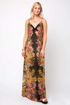Free People Wild Flower Printed Slip Dress