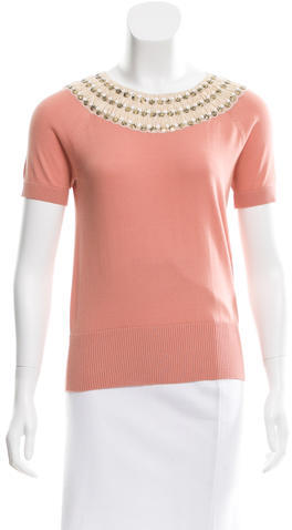 Tory BurchTory Burch Embroidered Knit Top