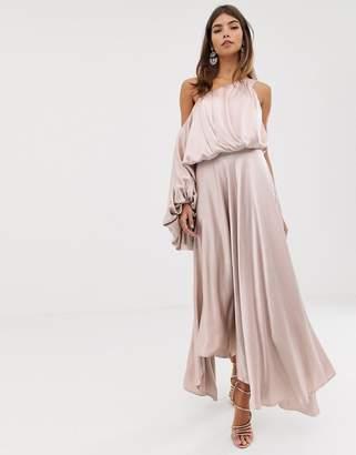 1d68dd586bec Asos Edition EDITION blouson one shoulder dress in satin