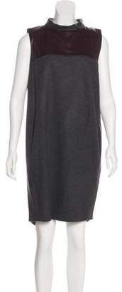Brunello Cucinelli Silk-Paneled Wool Dress