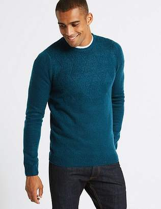 Marks and Spencer Supersoft Textured Crew Neck Yoke Jumper