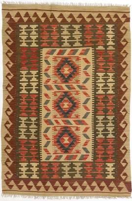 Ecarpetgallery Hand-woven Hereke Kilim Geometric 3' x 4' 100% Wool area rug
