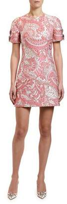 Dolce & Gabbana Short-Sleeve Jacquard Dress