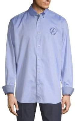 Paul & Shark Admiral Embroidered Cotton Shirt