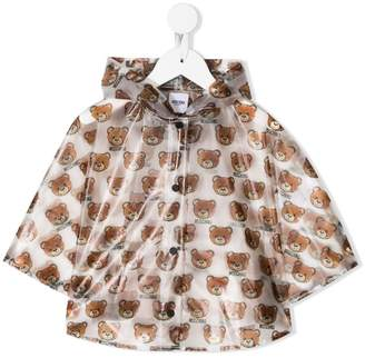 Moschino Kids teddy bear print raincoat