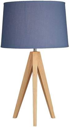 Kaleidoscope Wooden Tripod Table Lamp