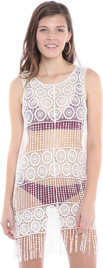 BeccaBecca See It Through Crochet Cover Up Dress