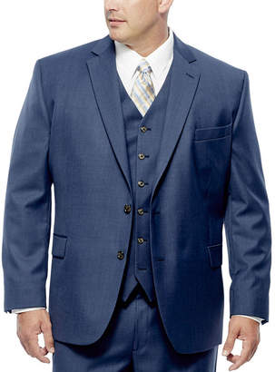 STAFFORD Stafford Travel Medium Blue Suit Jacket - Portly Fit