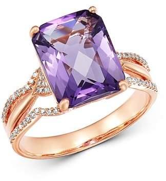 Bloomingdale's Amethyst & Diamond Ring in 14K Rose Gold - 100% Exclusive
