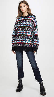 R 13 Oversized Fair Isle Cashmere Sweater