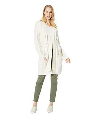 BB Dakota Women's Locals only Cable Knit wrap Cardigan
