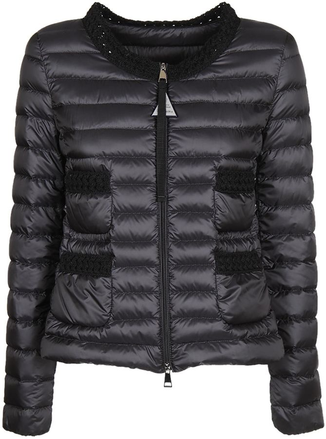 Moncler Moncler Knitted Detail Down Jacket