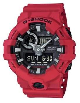 G-Shock Red Analog and Digital Resin Strap Watch