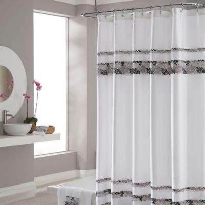 Deco Bain Tile 54-Inch x 78-Inch Shower Curtain
