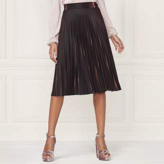 Lauren Conrad Runway Collection Pleated Metallic Skirt - Women's