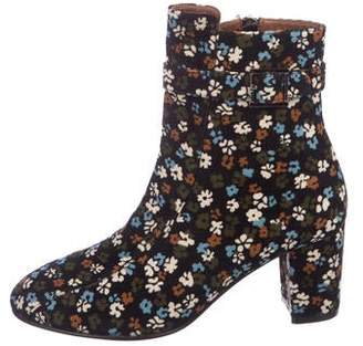 NewbarK Floral Ankle Boots