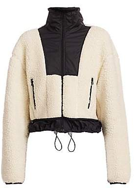 3.1 Phillip Lim Women's Faux Shearling Drawstring Jacket