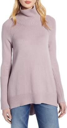 Halogen High Low Oversize Wool Blend Sweater