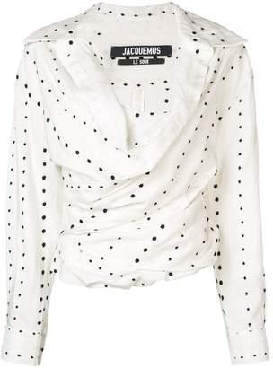 Jacquemus gathered blouse
