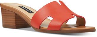 Nine West Aubrey Block-Heel Slide Sandals Women Shoes
