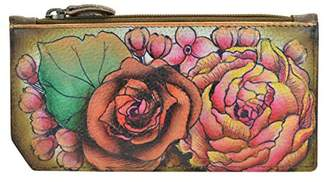Anuschka Women's Genuine Leather Card Case with Coin Pouch | RFID Blocking Protection