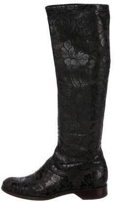 Donna Karan Leather Knee-High Boots