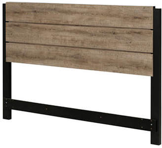 Munich SOUTH SHORE Full-Queen Headboard - Weathered Oak and Matte Black