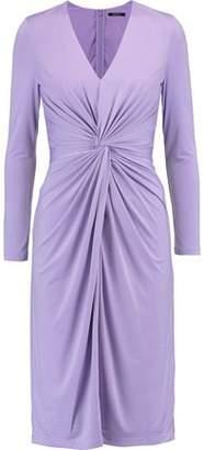 Raoul Woman Gathered Stretch-satin Dress Plum Size 32 Raoul efKQbOAaP