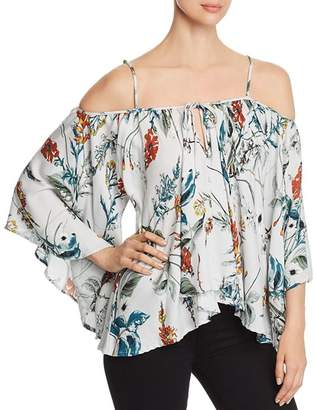 Elan International Cold-Shoulder Flutter Top