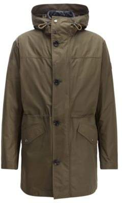 BOSS Hugo Three-in-one water-repellent parka taped seams 38R Open Green