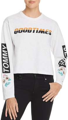 Tommy Jeans Embroidered Graphic Cropped Tee