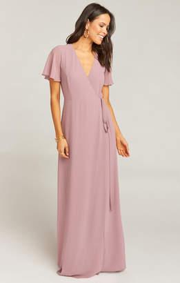 Show Me Your Mumu Noelle Flutter Sleeve Wrap Dress ~ Antique Rose Chiffon