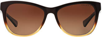 Ralph Ra5196 54 Brown Square Sunglasses