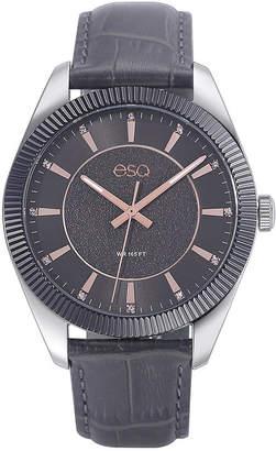 ESQ Men's ESQ0153 Gun Metal Ip Stainless Steel Watch, Grey Dial and Crystal Accents