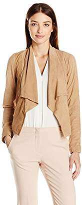 Cole Haan Women's Open Front Suede Jacket