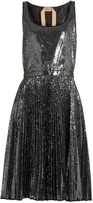 No.21 NO. 21 Sequin-embellished pleated dress