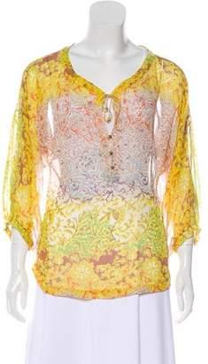 Diane von Furstenberg Silk Patterned Blouse