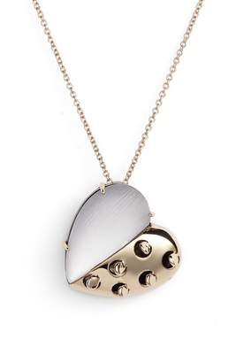 Alexis Bittar Small Lucite(R) Grater Heart Pendant Necklace