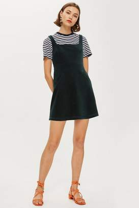 Topshop TALL Corduroy Open Back Pinafore Dress