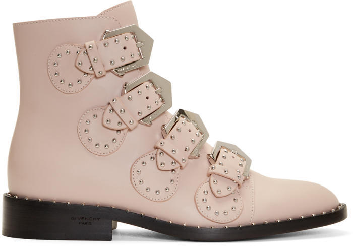Givenchy Pink Studded Elegant Boots