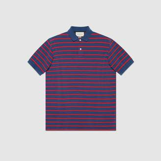 Gucci Striped cotton polo