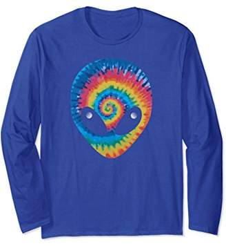ALIEN HEAD TIE DYE Long Sleeve T SHIRT