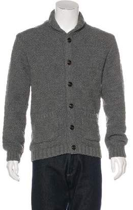 Oliver Spencer Cable Knit Button-Up Sweater