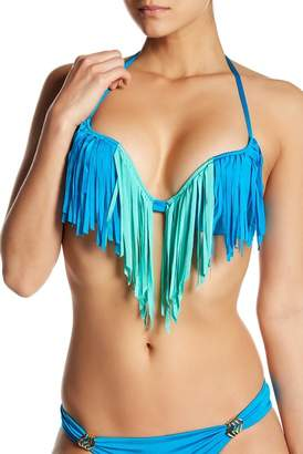 Ach'e A Che' Petra Fringe Pushup Underwire Bikini Top