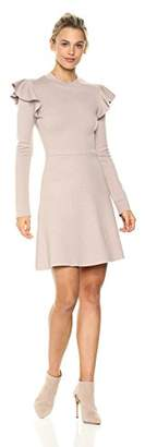 J.o.a. Women's Ruffle Sleeve Knit Dress