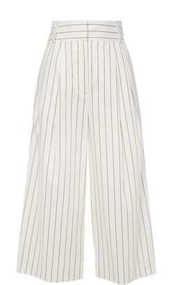 Tibi Sateen Stripe Bianca Cropped Pants