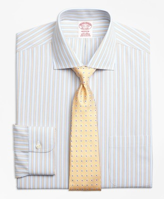 Brooks Brothers Madison Classic-Fit Dress Shirt, Non-Iron Framed Track Stripe