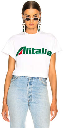 Alberta Ferretti x Alitalia For FWRD Logo Tee